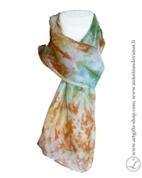 hand-dyed--shibori-silk-scarf-brown-green-hand-made-gifts-2