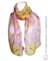 silk-scarf-hand-painted-pink-lotus-lithuania-wearable-art-2