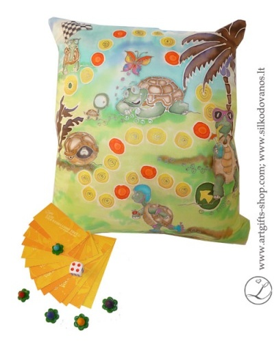 hand-painted-silk-pillow-family-educadable-game-lgifts-green-blue