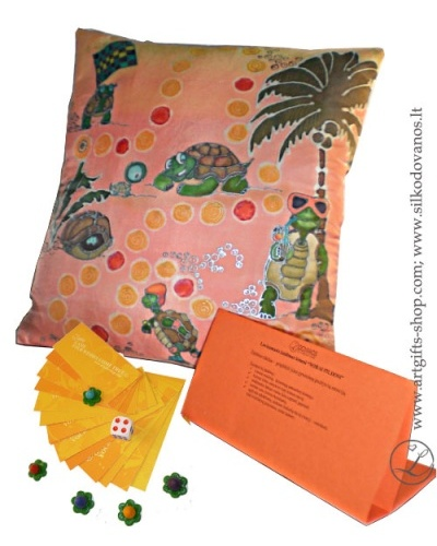 hand-painted-silk-pillow-family-game-lgifts-peach-orange