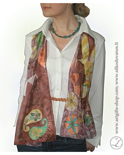 hand-painted-silk-scarf-jin-jang-brown-chocolate-lgifts2