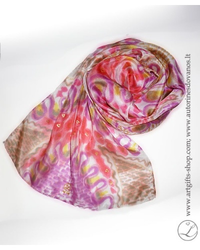 hand-painted-silk-scarf-lithuania-wearableart-handmade-heart-pink-red-brown-5