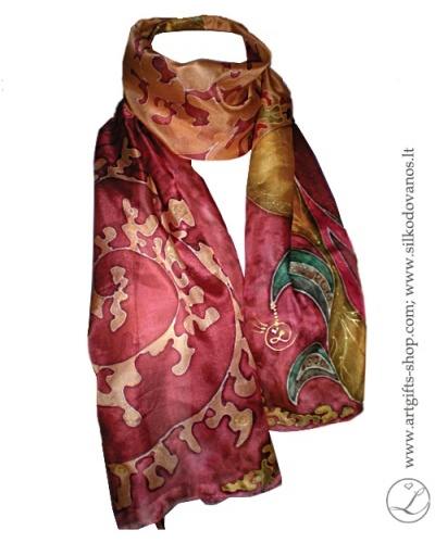 hand-painted-silk-scarf-tapytas-silko-salikas-bordo-orange